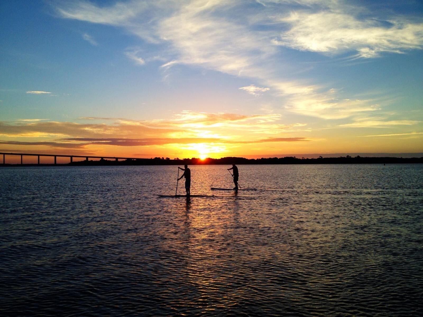Photo paddle boarding on the Wando River